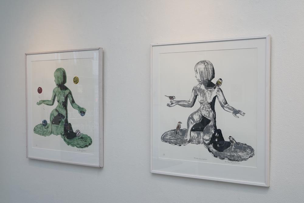 utställning med Barbro Christoffersson och Lena Hjelm