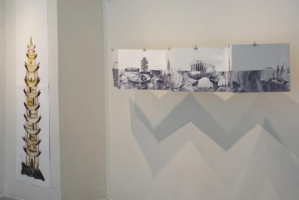 utställning med Grafikskolan
