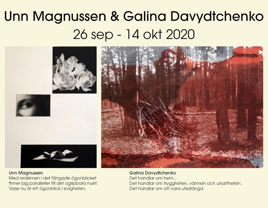 Utställning: Unn Magnussen & Galina Davydtchenko 26/9 - 14/10 2020