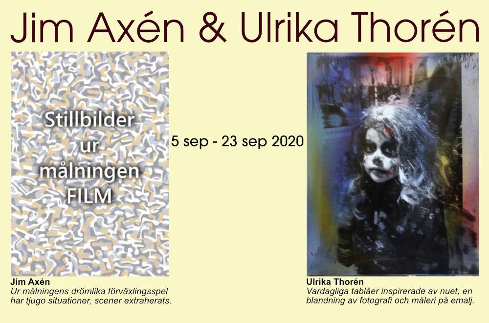 Utställning: Jim Axén & Ulrika Thorén 5/9 - 23/9 2020