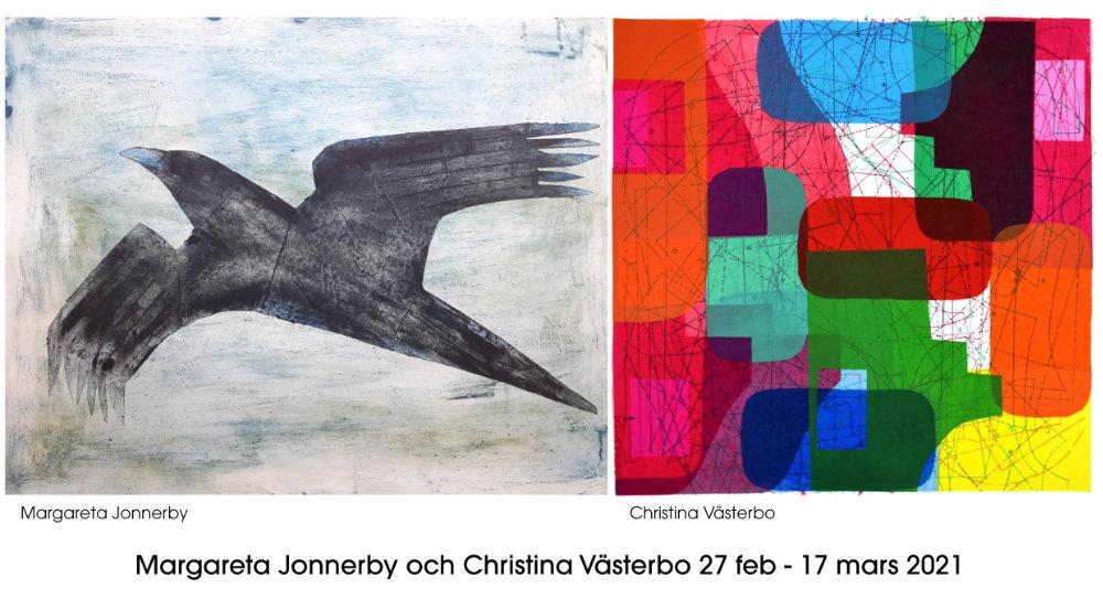 Utställning: 2021.02.27 - 2021.03.17-Margareta Jonnerby & Christina Västerbo